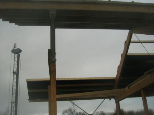 Schade aan het dak door enorme storm